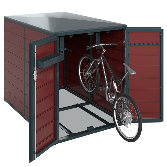 fahrradgarage carport und m lltonnenbox aus aluminium. Black Bedroom Furniture Sets. Home Design Ideas